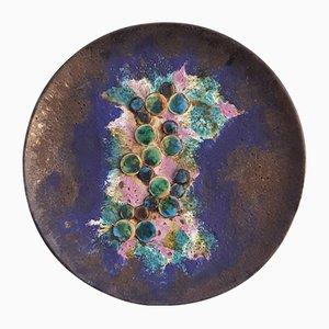 Space Age Wandteller aus Keramik von Ruscha, 1970er