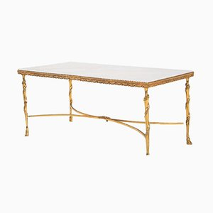Table Basse Hollywood Regency de Maison Baguès, 1950s