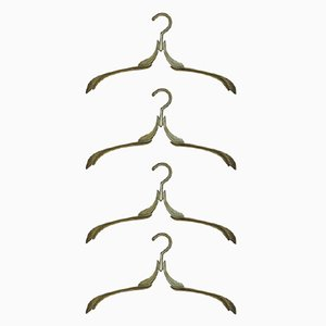 Industrial Brass Coat Hangers, 1950s, Set of 4