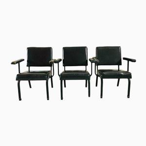 Metal & Skai Chairs, 1980s, Set of 3