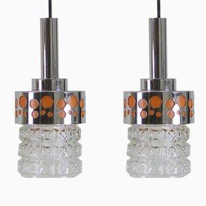 Lámparas colgantes Pop, años 70. Juego de 2