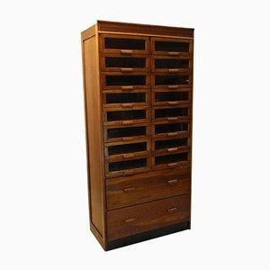English Oak 18 Drawer Haberdashery Cabinet, 1920s