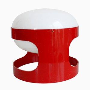 Lampada da tavolo KD27 rossa di Joe Colombo per Kartell, 1967