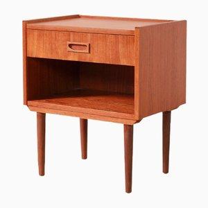 Danish Teak Nightstand or Side Table, 1960s