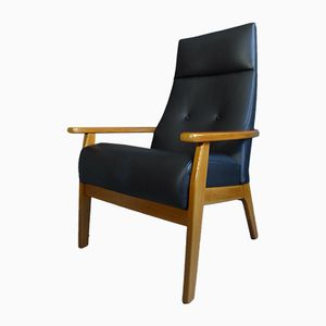 Mid-Century Model 1067-70 Leather Armchair from Parker Knoll, 1960s
