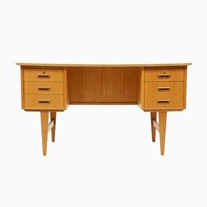 Doppelseitiger dänischer Mid-Century Schreibtisch aus Eiche, 1970er