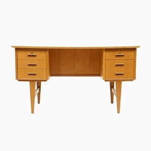 Mid-Century Danish Oak Double-Sided Desk, 1970s