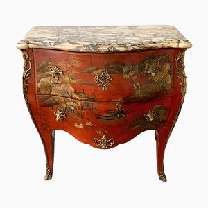 Louis XV Style French Lacquered Commode, 1960s