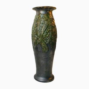 Jugendstil Nr. 1046 Vase aus Terrakotta mit Seepferd-Motiv, 1910er