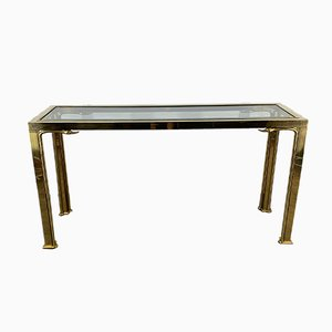 Brass Swan Console Table from Mastercraft, 1970s