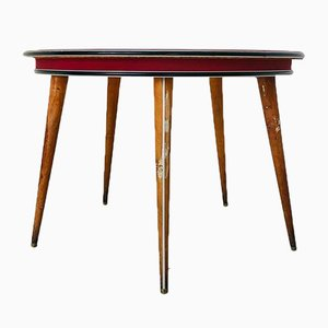 Vintage Modern Round Game Table by Umberto Mascagni, 1950s