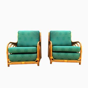 Vintage French Lounge Chairs, 1980s, Set of 2
