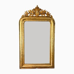 Antique Louis Philippe Wood & Plaster Mirror
