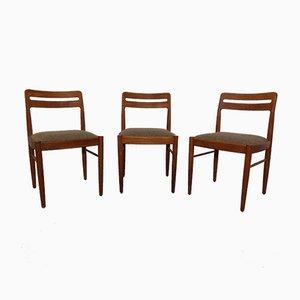 Sedie da pranzo in teak di H.W. Klein per Bramin, Danimarca, anni '60, set di 3