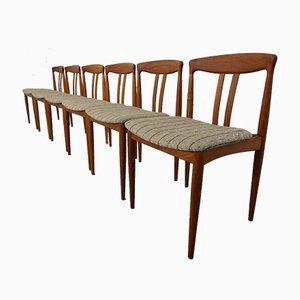 Chaises de Salle à Manger en Teck, Danemark, 1960s, Set de 6