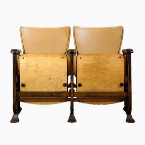 Art Deco 2-Sitzer Kinositzbank, 1920er