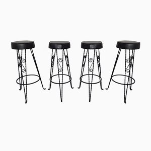 Vintage German Barstools, 1960s, Set of 4