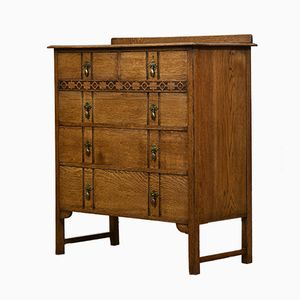 Golden Oak Chest of Drawers from Waring & Gillow, 1920s