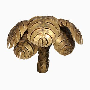 Regency Brass Palm Wall Sconce from Maison Jansen, 1970s