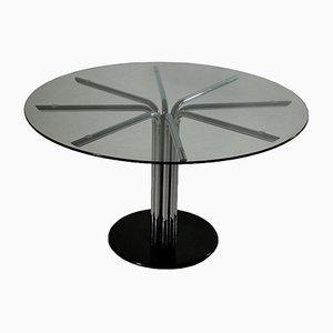 Vintage Italian Chromed Metal & Glass Table, 1970s