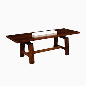 Vintage Italian Solid Wood Table by Silvio Coppola for Bernini, 1970s