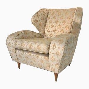 Vintage White Armchair, 1950s