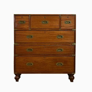 Antique Mahogany Secretaire Chest of Drawers from Bramah London, 1870s