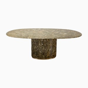 Marble & Brass Dining Table by Jean Charles, 1970s