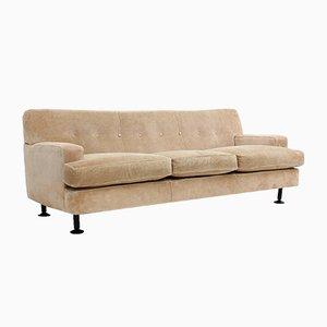 Sofá de tres plazas vintage cuadrado de Marco Zanuso para Arflex