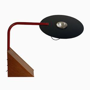Lampe de Bureau Vintage en Bois, Métal et Aluminium, Espagne, 1970s