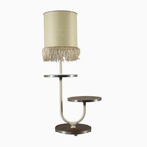 Lampada da terra vintage con tavolino rotondo, Italia, anni '70