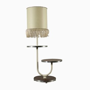 Vintage Italian Floor Lamp with Circular Table, 1970s
