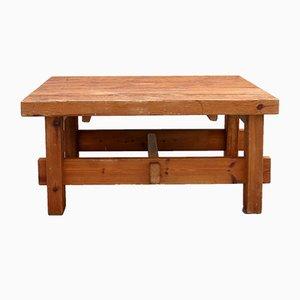 Tavolino da caffè vintage in legno