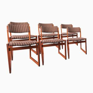 Dänische Stühle mit Gestell aus Teak von KS Møbler, 1960er, 6er Set
