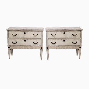 19th Century Gustavian Style Chests, Set of 2