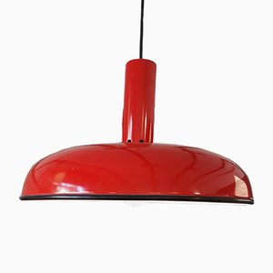 Red Pendant Lamp by Tsugawa for Sirrah, 1970s