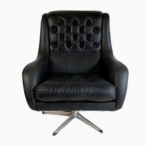 Vintage Sessel mit schwarzem Skai-Lederbezug, 1960er