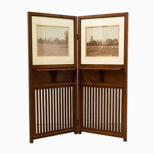 Antique English Mahogany Screen