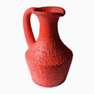 Vase en Béton Peint en Rouge, Belgique, 1960s