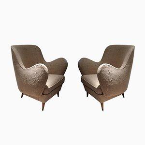 Italienische Mid-Century Sessel von ISA, 2er Set