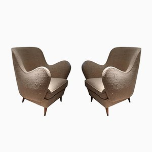 Mid-Century Italian Armchairs from ISA, Set of 2