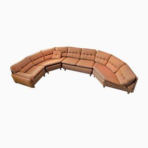 Canapé d'Angle Modulable Vintage en Tissu d'Ameublement, 1970s