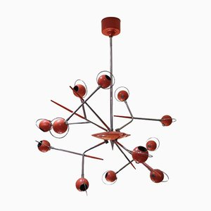 Lacquered Metal Ceiling Lamp by Oscar Torlasco, 1970s