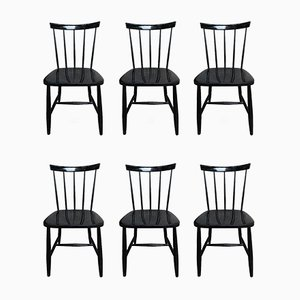 Side Chairs, 1950s, Set of 6