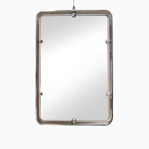 Vintage Italian Aluminum Wall Mirror