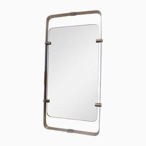 Italian Aluminum Wall Mirror, 1970s