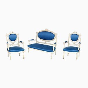 Gustavian Style Sofa & 2 Armchairs, 1930s