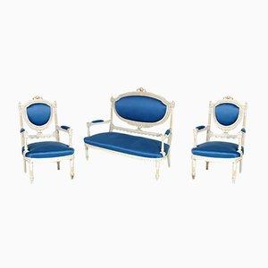 Sofa und 2 Sessel im gustavianischen Stil, 1930er