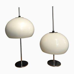 Lámparas de mesa Perl de Hustadt Leuchten, años 70. Juego de 2