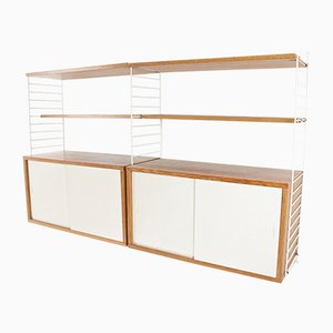 Unidad de pared modular sueca de Kajsa & Nils Nisse Strinning para String, años 60